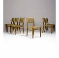 Audoux minet set of six beechwood side chairs with woven sisal seat and back 33 x 17 12 x 17 12