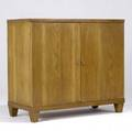 Decorative twodoor oak chest with fitted interior 39 x 44 x 19 34