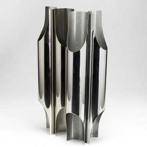 Charles  fils pair of polished steel wall sconces each with four sockets stamped charles made in france 23 34 x 7