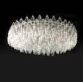 Venini polyhedron clear glass chandelier 15 x 48 dia