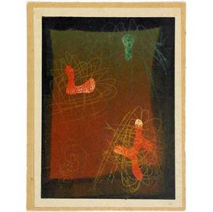 Harry bertoia american 19151978 early monoprint in colored inks on rice paper ca 1942 this print is from the graphic poem series bertoia produced while at cranbrook numbered 20 in pencil lo