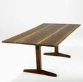 George nakashima trestle dining table the freeedge top with three rosewood butterfly keys provenance available 29 x 72 x 37 12