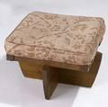 George nakashima walnut greenrock stool with mauve fabric cushion provenance available 15 x 19 x 20