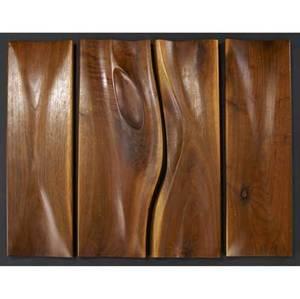 Phillip lloyd powell set of four sculpted walnut cabinet door fronts each door front approx 20 12 x 7