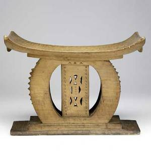 Ghana africa classic akan ashanti honeycolored wood stool elaborately carved early 20th c such examples were typically reserved for a member of the royal family collection of joshua dimondst