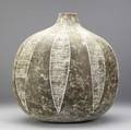 Claude conover early and large stoneware vessel colima signed titled and numbered 91240 15 34 x 17