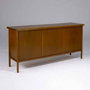 Th robsjohngibbings fourdoor mahogany sideboard with interior drawers and shelves 36 x 72 x 20