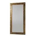 James mont polychrome wall mirror with a stylied greekkey design 54 x 26