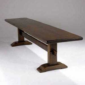 Robert whitley long walnut trestle table 29 x 123 12 x 28 12