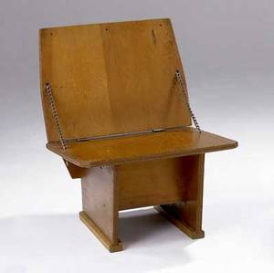 Frank lloyd wright plywood chair designed for the meeting house of the first unitarian society in madison wi 27 12 x 21 x 21