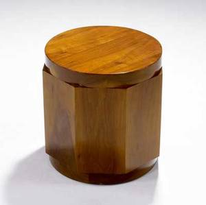 Edward wormley  dunbar octagonal sapwood pedestalside table 15 x 14 14 dia