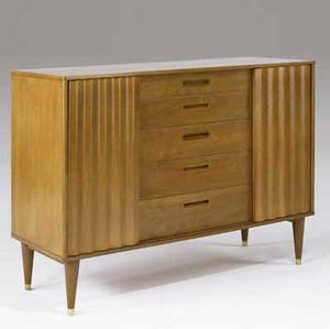 Edward wormley  dunbar mahogany chest en suite with preceding 37 34 x 49 x 20