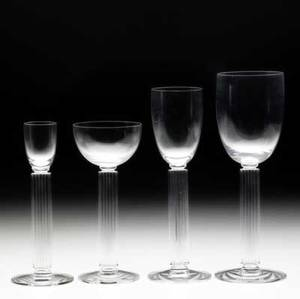 Walter dorwin teague  edwin w fuerst  libbey glass company twentyfive piece stemware set in the embassy pattern designed for the state dining room in the federal building at the 1939 new york wor