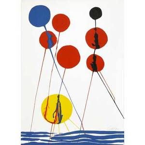 Alexander calder lithograph balloons signed calder in pencil 39 12 x 28 12