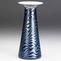 Durand king tutt tapering vase in lustered blue and cobalt unsigned 7 x 3 14