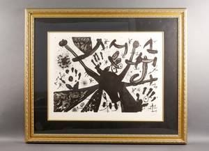 Joan Miro Pencil Signed Modern Abstract Lithograph
