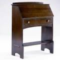 L  jg stickley dropfront desk with complete gallery interior over a fullwidth drawer and open cubicle the work of  metal tag 40 x 32 x 15