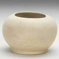 George ohr bisquefired squat vessel made at the louisiana purchase exposition 1904 script signature expo clay 04 3 12 x 5
