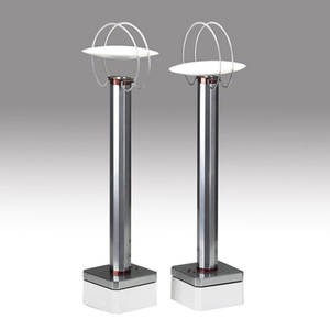 Flos pair of perpetua table lamps embossed flos perpetua 1230 provenance collection of juan montoya each 23 34 x 6 14