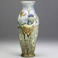 Weller glendale 12 vase with birds and butterflies stamped weller