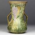 Roseville brown wisteria 10 vase unmarked