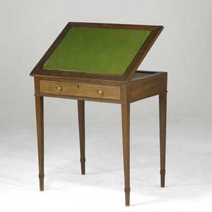 English george iii architect desk mahogany with green felt top 18th c 27 x 20 x 30