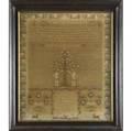 19th c sampler tree of life by alice heath 19 x 20