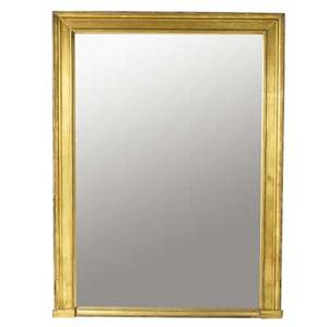 English gilded wall mirror 19th c 63 x 84