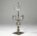 American copper weathervane topped with a rooster 19th20th c 64 x 27