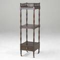 English regency whatnot threetiered mahogany etagere with gallery top ca 18001820 45 x 12 12 sq