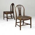English george iii chairs pair of chairs with carved backs in mahogany ca 1800 20 x 17 12 x 36
