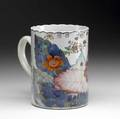 Chinese export cider mug with floral decoration ca 17601780 restored 5 12 x 4 dia