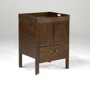 English cabinet bedside commode in mahogany 19th c 22 x 19 x 11