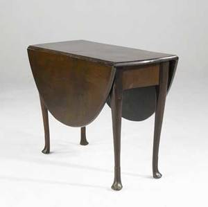 English queen anne dropleaf table mahogany with ball and claw feet ca 1760 40 x 17 x 28 12