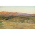 Howard russell butler american 18561934 two california landscapes untitled pastel and watercolor framed provenance private estate princeton nj one signed 10 x 14 and 6 x 9 sight