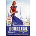 Three worlds fair posters offset lithographs in colors framed provenance private collection new jersey larger 33 12 x 23 12