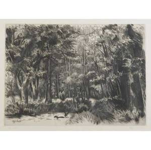 Henri vergesarrat french 18801966 paysage etching framed provenance private collection pennsylvania signed and numbered 85108 12 x 16 12 plate