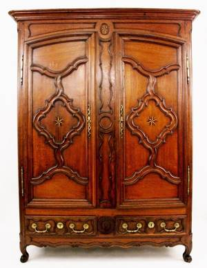 French Park Oak Armoire 18th C