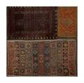 Oriental area rugs three in assorted designs and sizes early 20th c largest 116 x 68