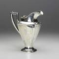 American silver water pitcher by wallace in the adams style ca 1920 block monogram 237 ot 10 12