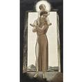 Rockwell kent american 18821971 wayside madonna engraving framed 1927 provenance private collection pennsylvania initialed in plate 10 12 x 5 34 sight