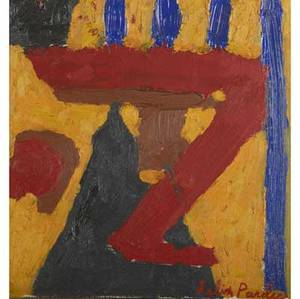Contemporary works of art felix pasilis american b 1922 untitled oil on canvas framed 1956 signed 16 x 15 unknown artist wood 34 12 high including base provenance private colle