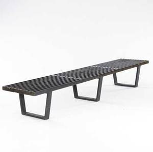 George nelson  herman miller black slatted bench 14 x 92 x 18 12