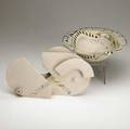 Susan nemeth and eileen nesbit two glazed ceramic pieces a bowl and sculpture provenance collection of hope and jay yampol bowl 3 x 10 12 and 8 12 x 14 x 2
