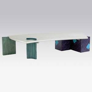 Wendy maruyama large coffee table with unique shaded top over illuminated neon and polychrome enameled wood base 1986 signed and dated 17 x 71 12 x 36