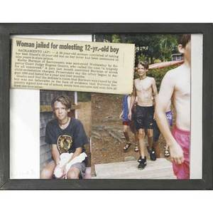 Larry clark american b 1943 untitled woman jailed for molesting 12yrold boy mixed media framed signed and numbered 910 5 34 x 7 34 sight provenance private collection new york