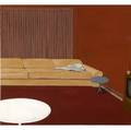 Norbert bauer german b 1967 three works of art interieur 1 11 and 111 2000 oil on canvas 19 34 x 23 58 each provenance schuster galerie frankfurt germany label on verso private c