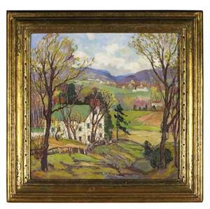 Fern isabel kuns coppedge american 18831951 untitled oil on canvas in a finken frame signed 24 x 24 31 x 31 frame provenance william lawrence gillam pennsylvania private collection
