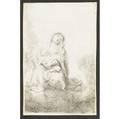 Rembrandt van rijn dutch 16061669 the virgin and child in the clouds 1641 etching and drypoint framed 6 12 x 4 14 sheet literature bartsch hollstein 61 hind 186 provenance arthur