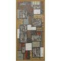 David holleman wall hanging with figural sgraffito tiles on multicolored mosaic ground 50 12 x 23 12